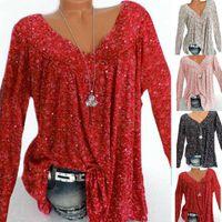 Women's Blouses & Shirts Tops T-Shirt Baggy Boho Blouse Ladies Plus Tunic Size Womens Loose Long Sleeve