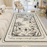 Carpets Living Room Carpet Nordic Large Non Slip Area Rugs Flower Pattern Rug Modern Kids Play Mats Yoga Pad Home Decor