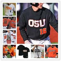 Oregon State Beavers Osu Beisbol Cosido CWS Jersey 3 Nick Madrigal 12 Sam Tweedt 14 Elliot Willy 15 Luke Heimlich Troy Claunch