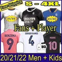 Sergio Ramos Haizard Benzema Real Madrid 20 21 Soccer Jersey 2020 2021 Asensio Modric Marcelo Футбол Топ Рубашка Мужчины Детские Наборы Устанавливает носки