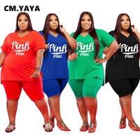 CM YAYA Grande T-shirt à manches courtes pour femmes et longueur de genou Sportswear