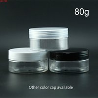 80g Kunststoff Klares Glas Kosmetische Creme Leere Flasche Transparente Bad Salzmaske Pulververpackung Container Fensterkappe 20pcsgood QUTITY