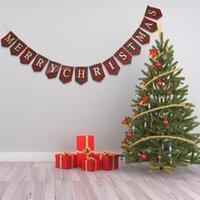 Баннеры бумажные флаги с рождеством Рождество баннер висит украшение украшения дома аксессуары фестиваля