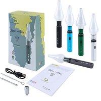 Autêntica G9 Clean Pen V2 Cera Vaporizador Atomizador Atomizador Kits 2in1 Seco Herb Dab Rig Bong Cartuchos Vape Vape 1000mAh Bateria de Tensão Ajustável