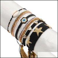 Charm Jewelrycharm Bracelets Go2Boho Star Bracelet Miyuki Pulseras Turkish Evil Eye Jewellery For Women Rhinestone Seashell Heart Jewelry Bl