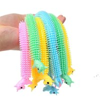 Creative Fidget Sensory Toy Noodle Rope Stress Reliever Vent Caterpillar Unicorn Decompression Pull Ropes Anxiety Relief Prank Toys OWF6882