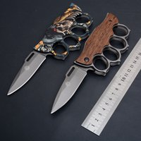hot sell Knuckle folding knife X71 2 styles 3Dpicutre of surface and wood handle camping&outdoor tools EDC pocket tool wholesale price