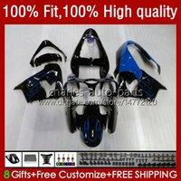OEM Bodywork For KAWASAKI NINJA ZX900 900CC ZX-9R Body Blue Flames Kit 25No.98 ZX9 9 R ZX 9R 900 CC 1998-2003 ZX-900 2000 2001 2002 2003 ZX9R 00 01 02 03 Injection Fairing