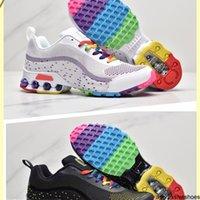 Yeni Reax Run Erkekler Kadınlar Gökkuşağı Koşu Ayakkabıları Siyah Turuncu Yeşil Erkek Bayanlar Yastık Nefes Spor Sneaker Des Chaussure Eğitmen