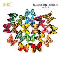 Aufkleber Aufkleber 10cm Simulierte Schmetterling gemischt Doppelschicht Home Decoration Verschönerung Dreidimensionale Paste Kühlschrankwand