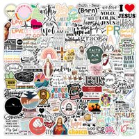 50pcs lot Fashion Jesus Stickers mixed cartoon anime For Laptop Skateboard Pad Bicycle refrigerator Phone Luggage Decal water Bottle guitar car Sticker