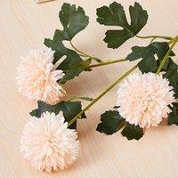 الزخرفية الزهور أكاليل flone 65 سنتيمتر الاصطناعي 3 رئيس الكرة الأقحوان الجدول الزفاف المنزل غرفة المعيشة الديكور زهرة بصل وهمية