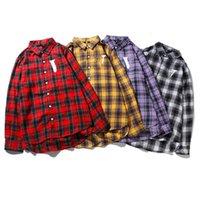 2021 Männer Shirts Frauen Langarm Hohe Qualität Casual Brief Gedruckt Hip Hop Stil Kleidung mit Etikettenkasten