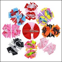 """& Barrettes Jewelry Jewelry5 """"Halloween Ribbon Boutique Hairbows With Clips Kids Hairgrips Dot Printed Bow Handmade Children Hair Aessories"""