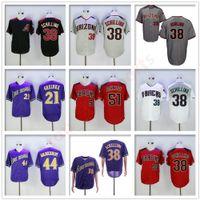 Vintage Cool Base 38 Curt Curt Schilling Jersey Retire Baseball 44 Paul Goldschmidt 51 Randy Johnson 21 Zack Greinke Men Stitched Jerseys