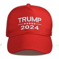Nuovo cappuccio elettorale presidenziale americano Trump 2024 cappello da baseball palla da baseball presidente Trump Tenere l'America Great Torno indietro Snapbacks ha raggiunto il picco ca
