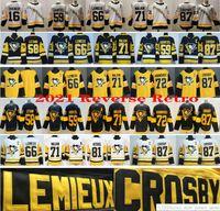 2021 Reverse Retro Pittsburgh Penguins 87 Sidney Crosby 71 Evgeni Malkin 66 Lemieux 59 Jake Guentzel 58 Kris Letang 16 Jason Zucker Jerseys