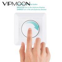 Duvara Monte LED Dimmer Açık / Kapama Anahtarı Ayarlanabilir 5-200 W 220-240 V LED Ampul Tavan Işık için 220-240 V Döner Kısılabilir 2 Yollu