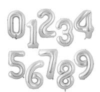 Party Supplies Helium Balloon 40 Inch Gold Number Aluminium Coating Balloons Birthday Decoration Wedding Air LD61101