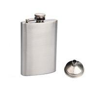Avec entonnoir à 4 oz Flacon HIP en acier inoxydable style 4 oz Flacons hip-flasques portables flocons portables quatre onces capacité de whisky extérieur bouteilles d'alcool
