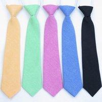 Lazos para niños Algodón Calidad sólida Cuello corbata Niños Chicas Estudiantes Niño Necktie Performance Fotografía Ceremonia de graduación Regalo