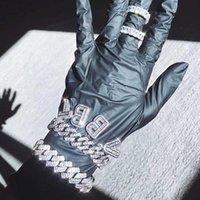 HIP HOP ILED OUT DE 12MM MIAMI MIAMI LINK Collier de liaison pour femmes Bling Baguette CZ Letters A-Z Initials Cuker Bijoux Culkers