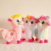 Animali di peluche ripieno Glutei Animalistwist e Ruota Cute Alpaca erba erba fango cavallo giocattolo elettrico Doll8GZM4eyb