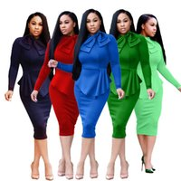Casual Dresses Fashion Female Dress Sexy Skinny Women Solid Color Round Collar Long Sleeve For Spring Fall Streetwear