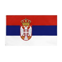 оптом заводская цена 100% полиэстер 90 * 150см 3x5 FTS SRB RS RSCLIKA SRBIJA Сербия Флаг для украшения GWD5717