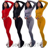 Women's Tracksuits 2 piece Set Women Autumn and winter Long-Sleeved Sweatpants Suit Irregular Casual Top And Split Pants