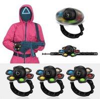 Kalamar Oyunu Maskeli Asker Bileklik İtme Kabarcık Fidget Bilezikler Cosplay Bilek Bantları Yüz Değiştirme Dönebilen Spinners Parmak Olarak Oyuncak Çocuklar Noel Hediyesi H108PRPN
