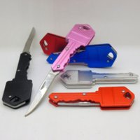 Multifunctional Key Chain Knife Mini Folding Fruit Knives Outdoor Saber Swiss Self-defense EDC Tool Gear 6 Colors