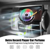 Car Retro Record Player Perfume Clip Air Freshener Aromatherapy Essential Oil Diffuser Vent Outlet Clip Condition Car Interior Decor LLE7498