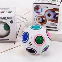 Creative Spheric Magic Ball Bola de arco iris Puzzle de plástico Niños Aprendizaje educativo Twist Fútbol Fútbol Fidget Toys CHOTS CYZ3122
