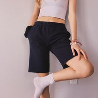 Women's Pants & Capris ROSA SWEATSHORTS Soft In Black With Side Pockets And Elastic Waistband Summer Women Casual Gray Short Half Basic Vint