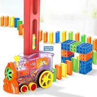 EMT QT6 Creative Domino Automatische Eingabenzüge, mit Lichtern Sound, Science Educational Toy, Elternkind Interaktives Spielzeug, Weihnachtskind-Geburtstagsgeschenk, Verwendungu
