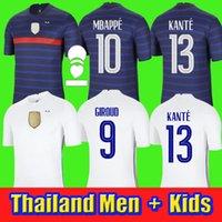 2021 كأس العالم كأس العالم فرنسا لكرة القدم جيرسي مايوه mbappe grizmann بوجبا 100 سنة مايلوتس دي قميص ميلوت دي القدم اوي الحجم دي الرجال + أطفال