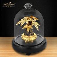 Asklove Stortune Tree собирать богатство украшение 24K золотая фольга ремесел FENGSHUI DECAL Lucky деньги дерево бонсай домашнее офисное украшение 210326