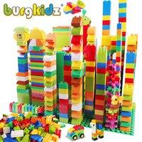 Burgkidz 277 adet Büyük Boy Yapı Taşları Oyuncaklar Klasik Şehir Tuğla Consturctor Montessori Eğitim Tasarımcı Oyuncaklar Çocuklar için X0503
