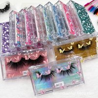 NEW 20 50 pcs Butterfly Print Acrylic 20mm False Eyelashes Packaging Box Lash Boxes Fake 3D Mink Lashes Case Empty Custom Logo