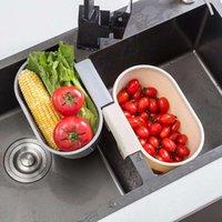 Storage Baskets Sink Shelf Kitchen Sinks Organizer Soap Sponge Holder Drain Rack Basket Gadgets Accessories