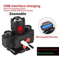 Scheinwerfer Zoomable XP-G Q5 COB LED Fischereischeinwerfer Verwenden Sie wiederaufladbare 18650 Batterie Scheinwerferkopflampe Fackel für Campingleuchte
