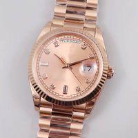 럭셔리 패션 클래식 방수 여성 시계, 36mm 주 캘린더 스테인레스 스틸 캐주얼 비즈니스 자동 기계