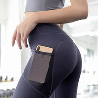 Yoga Outfit S-2XL Plus Size Slim High Waist Tummy Control Jogging Tights Women Sport Fitness GYM Pants With Pocket Quick Dry Leggings
