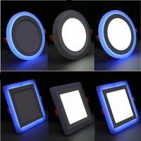 Downlights 울트라 얇은 LED 천장 패널 빛 6W 9W 16W 24W 통수 라운드 스퀘어 2 색 오목한 실내 지점