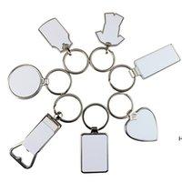 التسامي فارغة سلسلة المفاتيح قلادة فتاحة زجاجة معدنية الإبداعية القلب شكل نقل الحرارة كيرينغ هدية لوازم مفتاح سلسلة HWB7113