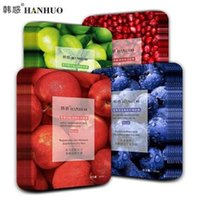 Hanhuo fruit essence facial mask deep water supply moisture penetrating peels 50pcs a lot large order can recheck the price 30ml net weight 10 styles for option