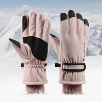 Five Fingers Gloves Winter Thicken Fleece Lining Ski Women Sports Snowboard Mittens Warm Waterproof Windproof Skiing Handschoenen Hive