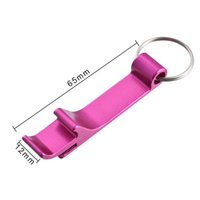 Portable 4 in 1 Bottle Opener Key Ring Chain Keyring Keychain Metal Beer Bar Tool Claw Gift Unique Creative Gift Random color GWE6334