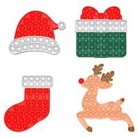 Feliz Natal Pioneer Sensory Fidget Brinquedos Push's Push Pop Elk Presentes Caixa Xams Caps Finger Poppers Bubble Descompression Toy Poo-seu jogo G87QEQZ